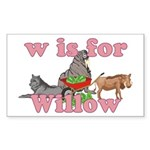 W is for Willow Sticker (Rectangle 10 pk)