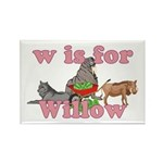 W is for Willow Rectangle Magnet (100 pack)