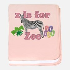 Z is for Zoe baby blanket