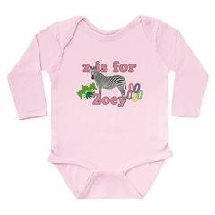 Z is for Zoey Long Sleeve Infant Bodysuit