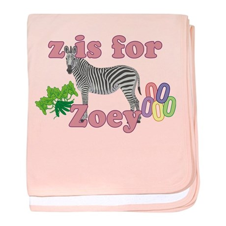 Z is for Zoey baby blanket