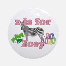 Z is for Zoey Ornament (Round)