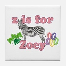 Z is for Zoey Tile Coaster