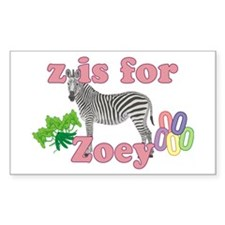Z is for Zoey Decal