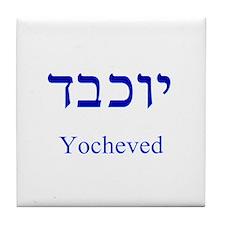 Unique Hebrew Tile Coaster