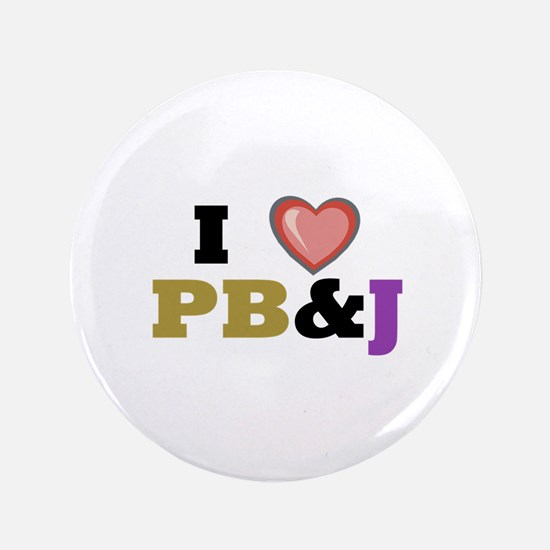 "P B & J 3.5"" Button"