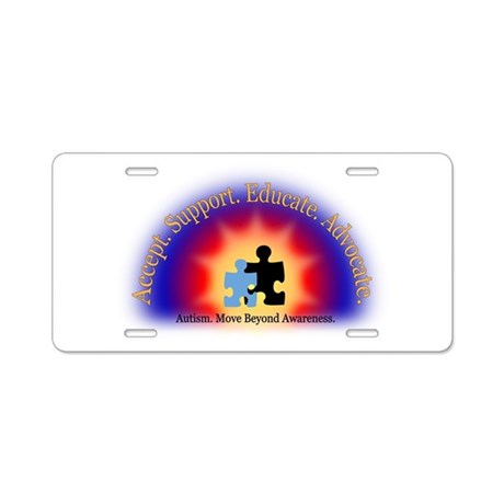Beyond Awareness (Autism) Aluminum License Plate