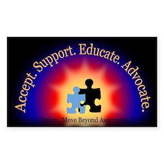 Beyond Awareness (Autism) Rectangle Sticker - Dark
