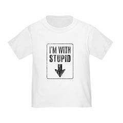 Vintage I'm With Stupid [d] T