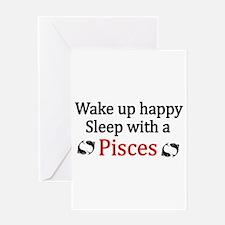 Unique Pisces Greeting Card