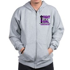 Licensed Fight Like a Girl 1.2 Fibromya Zip Hoodie