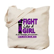 Licensed Fight Like a Girl 1.2 Fibromyalg Tote Bag