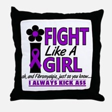 Licensed Fight Like a Girl 1.2 Fibrom Throw Pillow