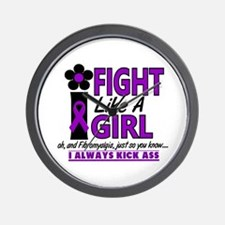 Licensed Fight Like a Girl 1.2 Fibromya Wall Clock