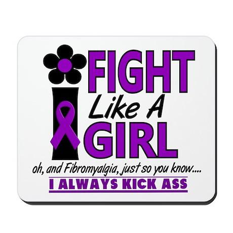 Licensed Fight Like a Girl 1.2 Fibromyal Mousepad