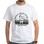 Obama Peace Prize Windmills White T-Shirt