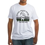 Obama Peace Prize Windmills Fitted T-Shirt