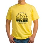 Obama Peace Prize Windmills Yellow T-Shirt