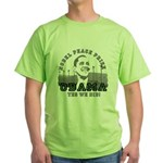 Obama Peace Prize Windmills Green T-Shirt