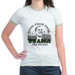 Obama Peace Prize Windmills Jr. Ringer T-Shirt