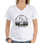 Obama Peace Prize Windmills Women's V-Neck T-Shirt
