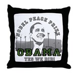 Obama Peace Prize Windmills Throw Pillow