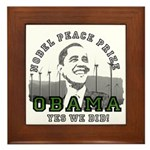 Obama Peace Prize Windmills Framed Tile