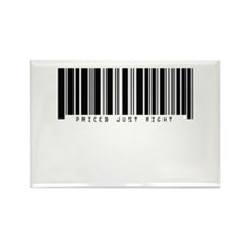 Barcode - Priced Just Right Rectangle Magnet