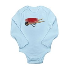 Red Wheelbarrow Long Sleeve Infant Bodysuit