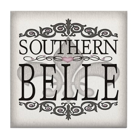Southern Belle Hearts Tile Coaster