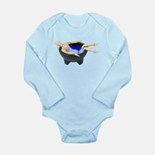 Relax in Hot Tub Long Sleeve Infant Bodysuit