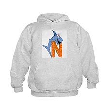 Personalized kids letter N Hoodie