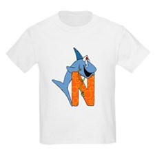 Personalized kids letter N Kids T-Shirt
