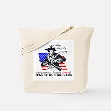Patriotism When Illegals Tote Bag