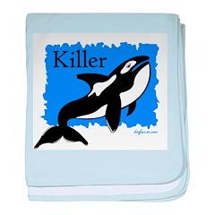 Killer (Orca) baby blanket