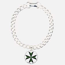 Green Maltese Cross Bracelet