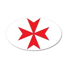 Red Maltese Cross Wall Decal