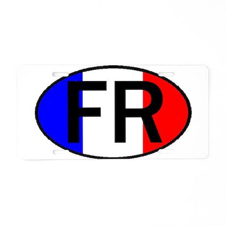 FRANCE II OVAL Aluminum License Plate