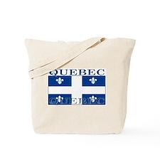 Quebec Quebecer Flag Tote Bag