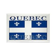 Quebec Quebecer Flag Rectangle Magnet