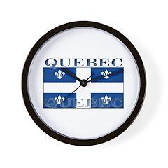 Quebec Quebecer Flag Wall Clock