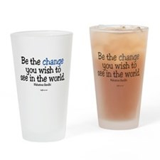Be The Change Pint Glass