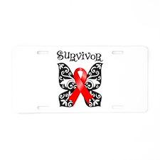 Butterfly Heart Disease Aluminum License Plate