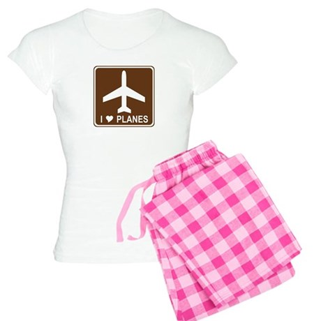 I Love Planes Women's Light Pajamas