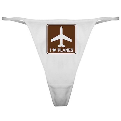 I Love Planes Classic Thong