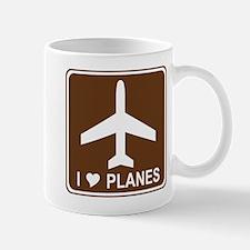 I Love Planes Mug