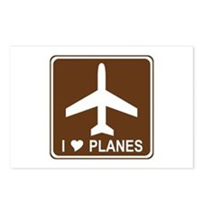 I Love Planes Postcards (Package of 8)