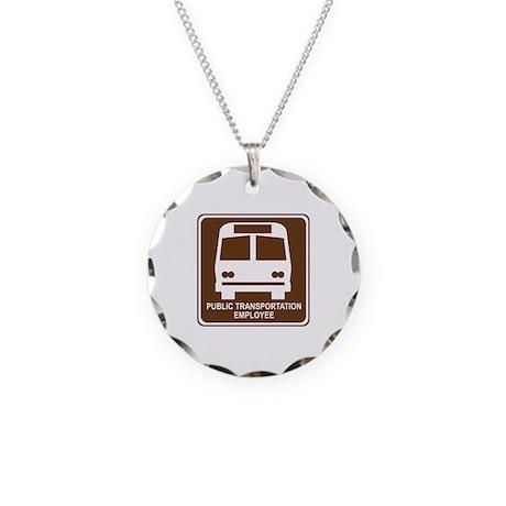 Public Transportation Employee Necklace Circle Cha
