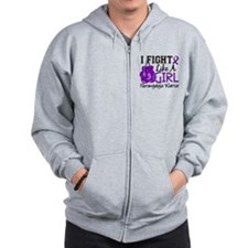 Licensed Fight Like a Girl 15.2 Fibromy Zip Hoodie