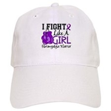 Licensed Fight Like a Girl 15.2 Fibromyalgia Baseball Cap